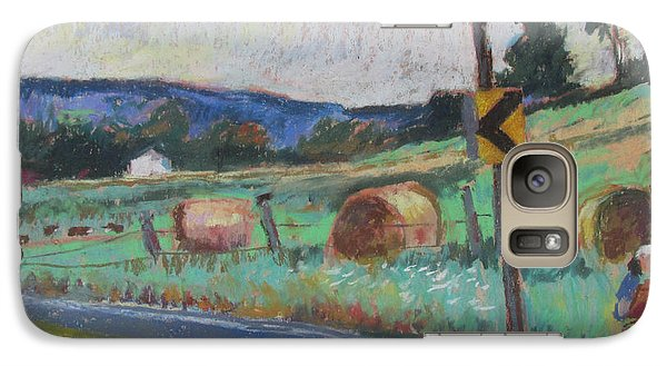 Galaxy Case featuring the painting Berkshire Mountain Painter by Linda Novick