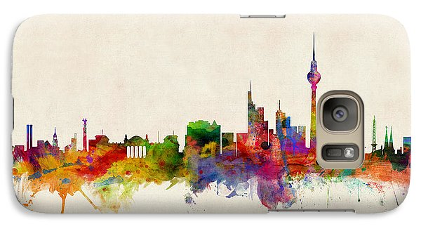 Berlin City Skyline Galaxy S7 Case by Michael Tompsett