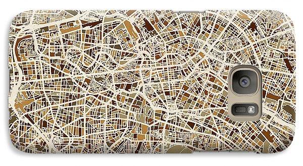 Berlin Germany Street Map Galaxy S7 Case by Michael Tompsett