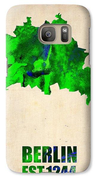 Berlin Watercolor Map Galaxy S7 Case by Naxart Studio