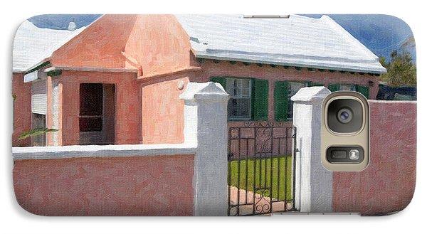 Galaxy Case featuring the photograph Bermuda Garden Gate by Verena Matthew