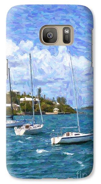 Galaxy Case featuring the photograph Bermuda Sailboats by Verena Matthew