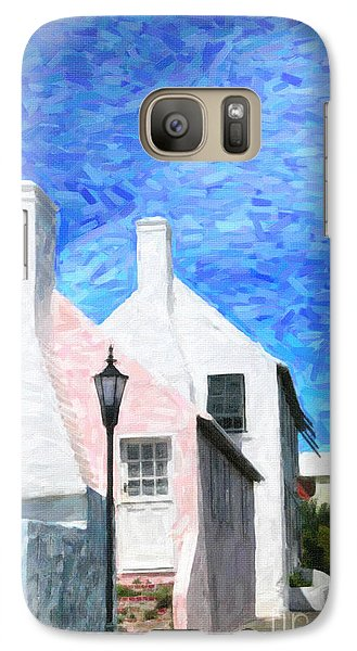 Galaxy Case featuring the photograph Bermuda Side Street by Verena Matthew