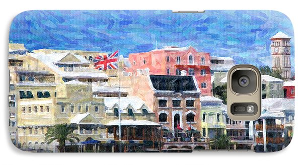 Galaxy Case featuring the photograph Bermuda Waterfront by Verena Matthew