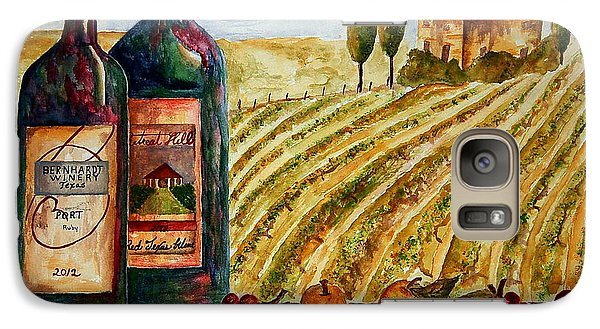 Galaxy Case featuring the painting Bernhardt And Retreat Hill Winery by Tamyra Crossley