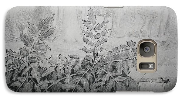 Galaxy Case featuring the drawing Bernheim Forest Plant by Stacy C Bottoms