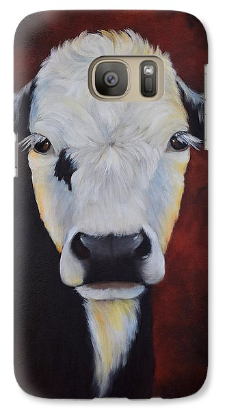 Galaxy Case featuring the painting Bernice by Cheri Wollenberg