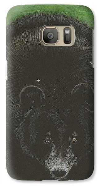 Galaxy Case featuring the drawing Bernie by Sheila Byers