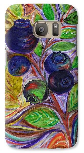 Galaxy Case featuring the painting Berry Bush by Cynthia Lagoudakis