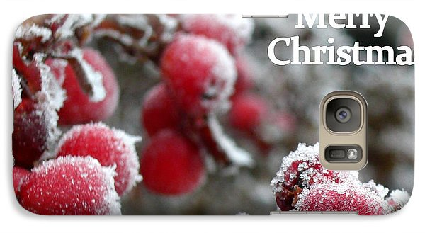 Galaxy Case featuring the photograph Berry Christmas Card by Heidi Manly