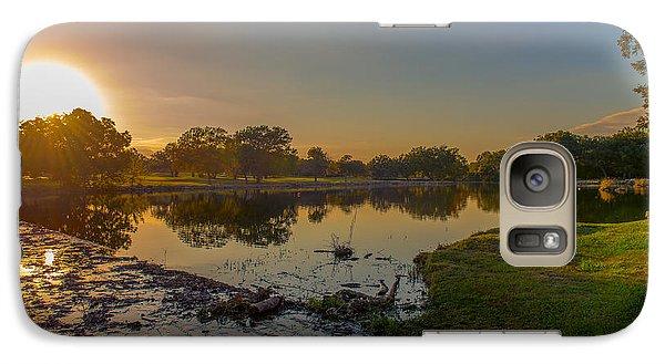 Galaxy Case featuring the photograph Berry Creek Sun Set by John Johnson