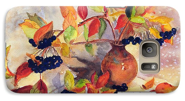 Galaxy Case featuring the painting Berry Harvest Still Life by Karen Mattson