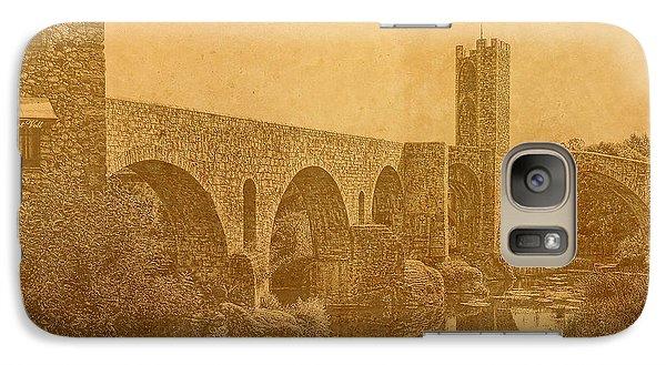 Galaxy Case featuring the photograph Besalu Bridge by Nigel Fletcher-Jones