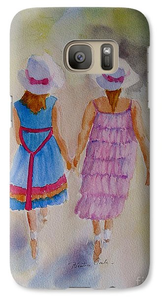 Galaxy Case featuring the painting Best Friends by Beatrice Cloake