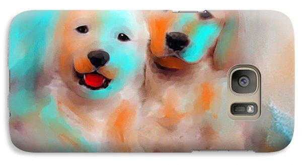 Galaxy Case featuring the painting Best Friends by Larry Cirigliano