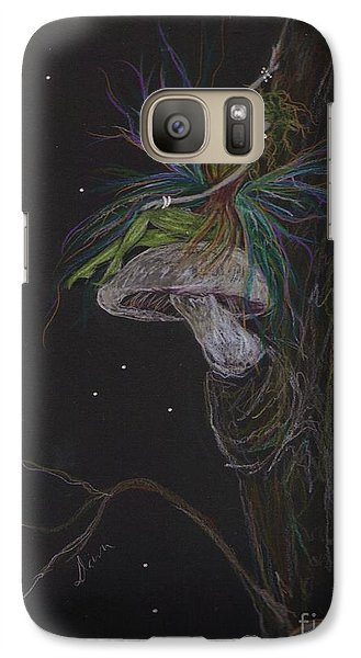 Galaxy Case featuring the drawing Best Seat In The House by Dawn Fairies