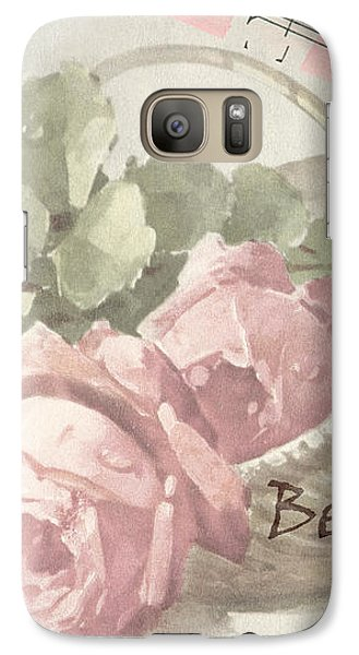 Galaxy Case featuring the photograph Best Wishes Vintage Roses Card  by Sandra Foster