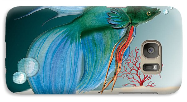 Galaxy Case featuring the painting Beta Fish by Anne Beverley-Stamps