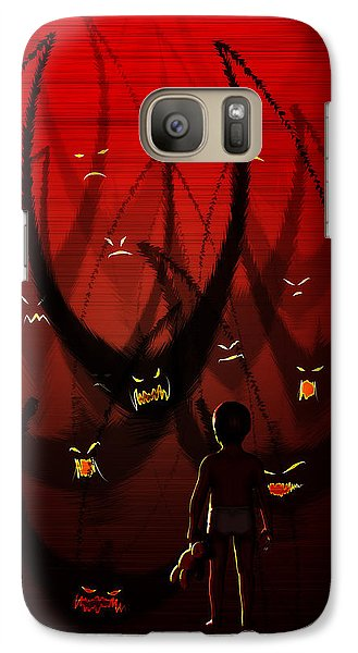 Galaxy Case featuring the digital art Betes Noires by Matt Lindley