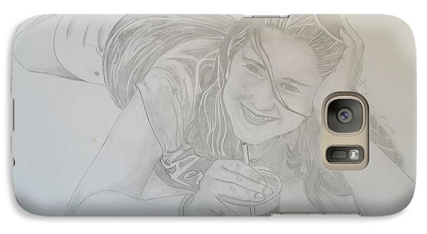 Galaxy Case featuring the drawing Bethany by Justin Moore