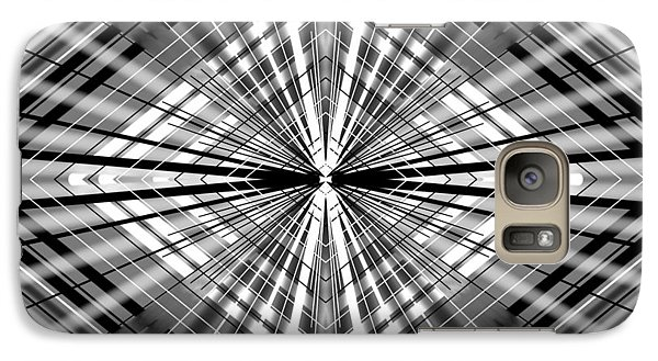 Galaxy Case featuring the digital art Between Black And White by Brian Johnson
