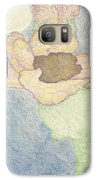 Galaxy Case featuring the drawing Between Dreams by Kim Pate