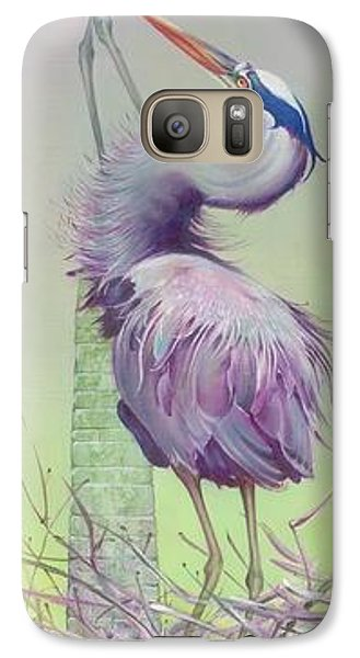 Galaxy Case featuring the painting Between The Worlds by Anna Ewa Miarczynska
