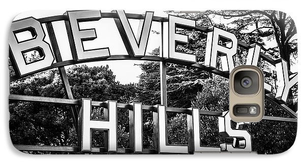 Beverly Hills Sign In Black And White Galaxy S7 Case by Paul Velgos
