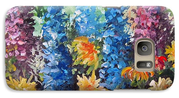 Galaxy Case featuring the painting Bev's Garden by Megan Walsh