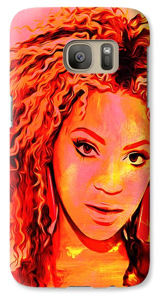 Galaxy Case featuring the painting Beyonce by Brian Reaves