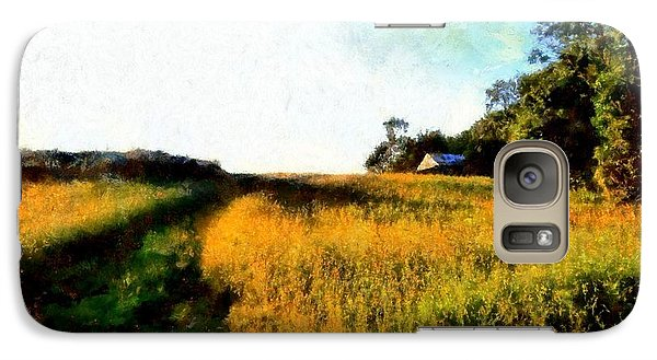 Galaxy Case featuring the photograph Beyond The Hill  by Janine Riley