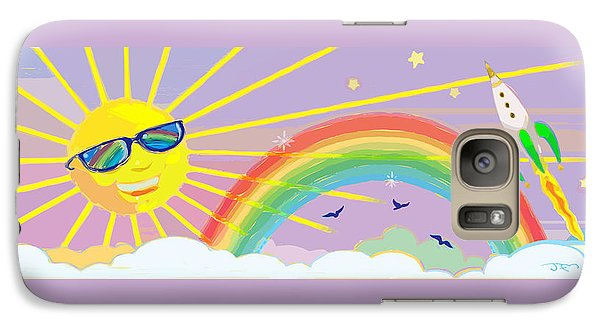 Galaxy Case featuring the mixed media Beyond The Rainbow by J L Meadows