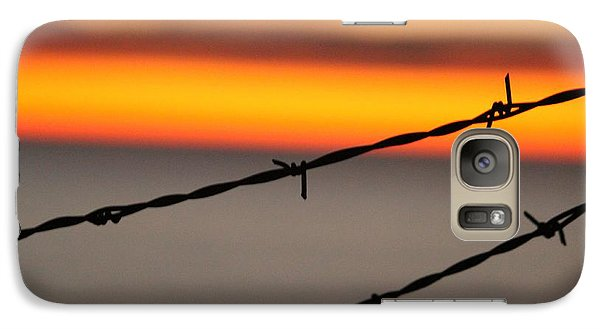Galaxy Case featuring the photograph Beyond The Wire by Amy Gallagher