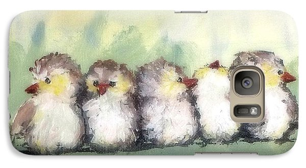 Galaxy Case featuring the painting Bff's by Susan Fisher