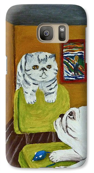 Galaxy Case featuring the painting Bffs by Victoria Lakes
