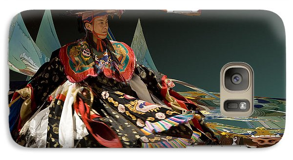 Galaxy Case featuring the digital art Bhutanese Dancer by Angelika Drake