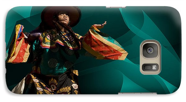 Galaxy Case featuring the digital art Bhutanese Festival by Angelika Drake