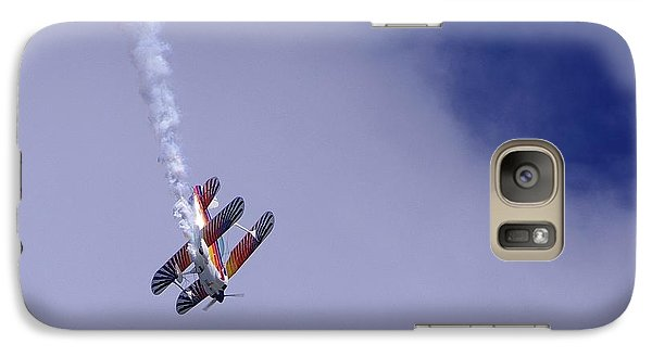 Galaxy Case featuring the photograph Bi Wing Stunt Plane by Don Youngclaus