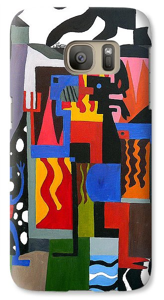 Galaxy Case featuring the painting Bicloptochotik by Ryan Demaree