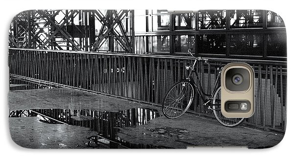 Galaxy Case featuring the photograph Bicycle Alone by Maja Sokolowska