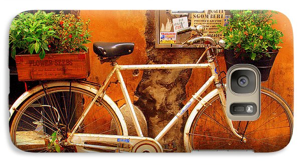 Galaxy Case featuring the photograph Bicycle In Rome by Caroline Stella