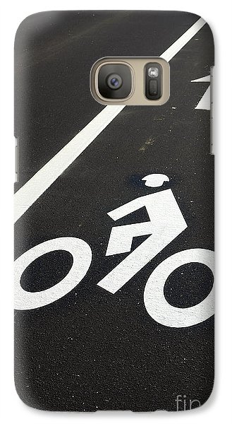 Bicycle Galaxy S7 Case - Bicycle Lane by Olivier Le Queinec