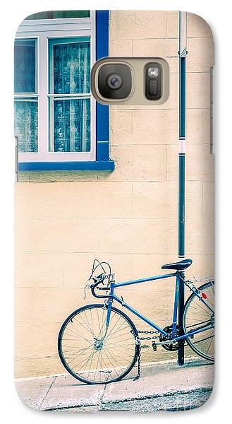 Bicycle Galaxy S7 Case - Bicycle On The Streets Of Old Quebec City by Edward Fielding