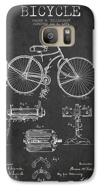 Bicycle Galaxy S7 Case - Bicycle Patent Drawing From 1891 by Aged Pixel