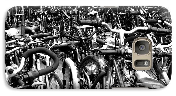 Galaxy Case featuring the photograph Sea Of Bicycles- Karlsruhe Germany by Joey Agbayani