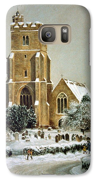 Galaxy Case featuring the painting Biddenden Church by Rosemary Colyer