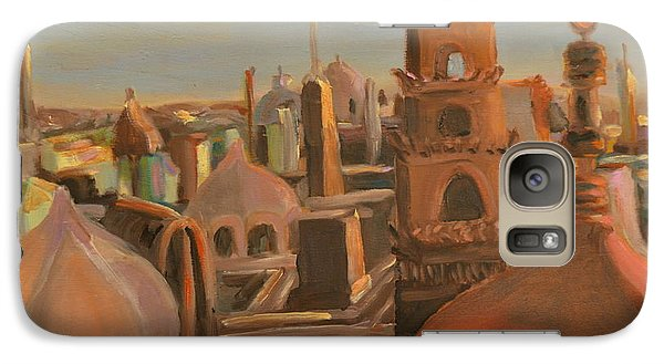 Galaxy Case featuring the painting Bienvenue Au Caire by Julie Todd-Cundiff