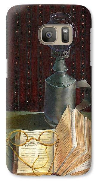 Galaxy Case featuring the painting Bifocal Read by Doreta Y Boyd