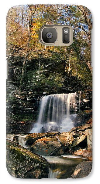 Galaxy Case featuring the photograph Big Autumn View At B. Reynolds Falls by Gene Walls