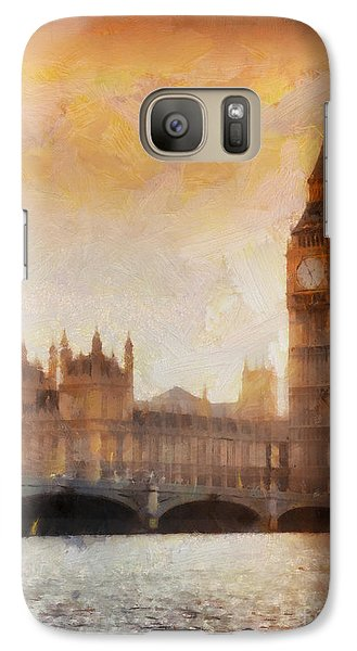 Big Ben At Dusk Galaxy S7 Case by Pixel Chimp